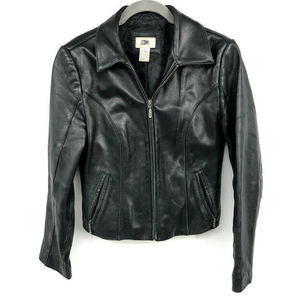 BP. Leather Jacket S Genuine Lamb Skin Moto Black